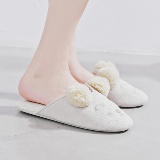 """Домашние тапочки H1610 """"Веселые мишки"""" белые,Halluci,Китай"""
